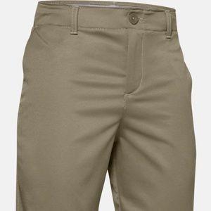 under armour khaki golf shorts